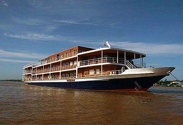 Imagen Barco navegando por el Río Mekong