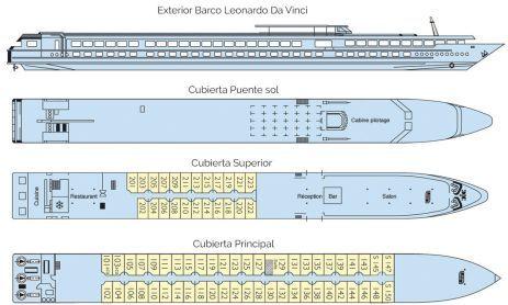 Plano Barco Leonardo Da Vinci